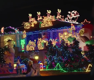 Spiros Dassakis's house decorated for Christmas